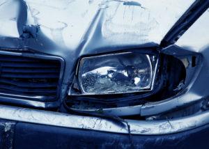 Car in accident needing body repair